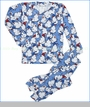 Thingamajiggies 4 Kids, Snowman Pajama in Blue