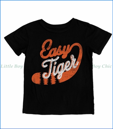 Tiny Whales, Easy Tiger T-Shirt in Black