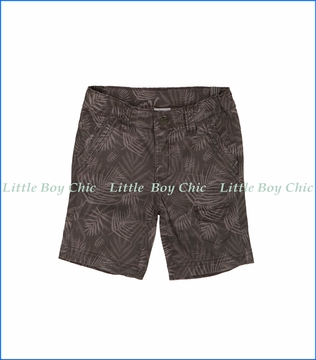 Tuc Tuc, Beach Side Palm Print Shorts in Brown