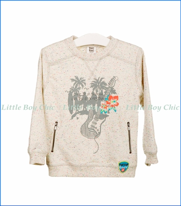 Tuc Tuc, Beachside Plush Sweatshirt in Off-White