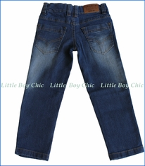 Tuc Tuc, Five-pocket stonewashed denim  in Blue