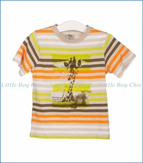 Tuc Tuc, Jungle Stripe T-Shirt in Beige