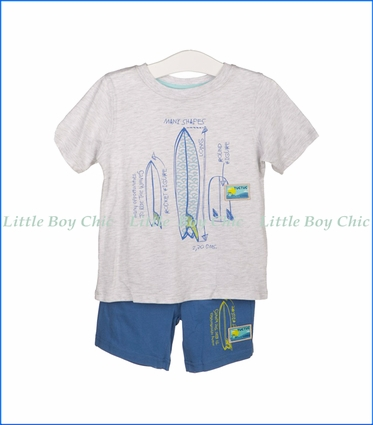 Tuc Tuc, Surf Jersey Tee & Shorts Set in Blue