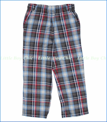 Tumbleweed, Charcoal Multiplaid Pull On Flannel Pants