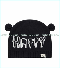 Turtle Dove, Happy Ears Knitted Hat in Black
