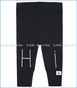 "Turtle Dove, Organic ""Hi"" Leggings in Black"
