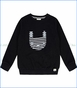 Turtle Dove, Organic Mask Applique Sweatshirt in Black