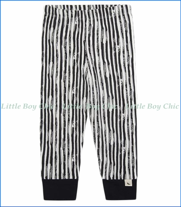 Turtle Dove, Organic Stripe Leggings in Black & White