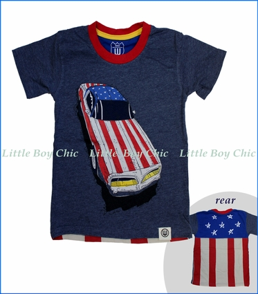 Wes and Willy, American Ride T-Shirt in Blue