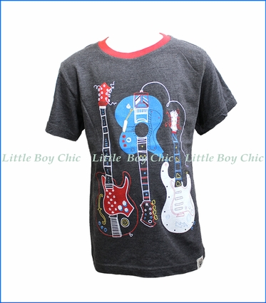 Wes and Willy, Guitar T-Shirt in Black