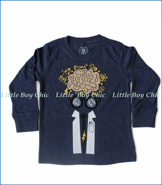Wes and Willy, L/S Brianiac T-Shirt in Midnight