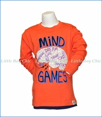 Wes and Willy, L/S Mind Games T-Shirt in Orange