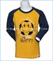 Wes and Willy, L/S Soccer Happy Slub Raglan in Yellow