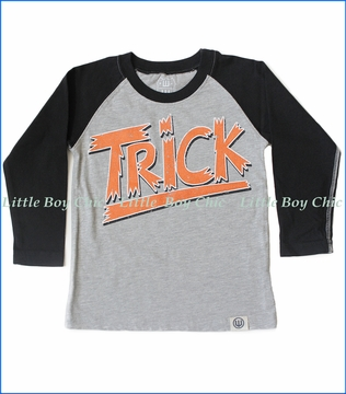 Wes and Willy, L/S Trick 'R' Treat T-Shirt in Black