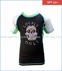 Wes and Willy, Locals Only Rash Guard in Black