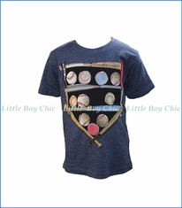 Wes and Willy, S/S Baseball Diamond T-Shirt in Blue