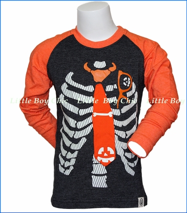 Wes and Willy, Skeleton Tie Glow in the Dark in Black