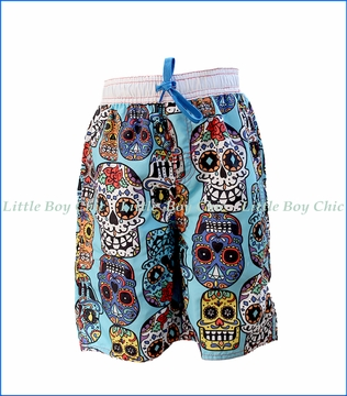 Wes and Willy, Sugar Skulls Trunk in Blue