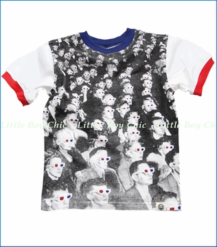 Wes & Willy, 3D Audience Tee in White (c)