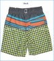 Wes & Willy, Diamond Stripe Stretch Swim Trunk in Metal