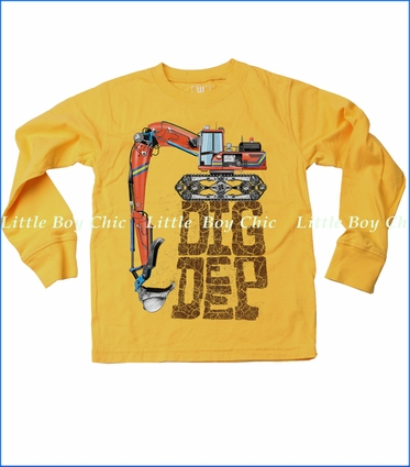 Wes & Willy, Dig Deep Tee in Bold Gold