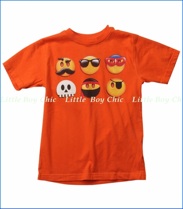 Wes & Willy, Emojis Tee in Tangerine