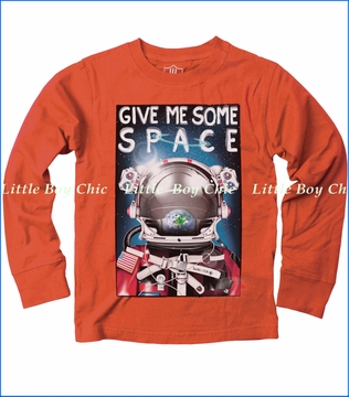Wes & Willy, Give Me Some Space Tee in Orange Crush