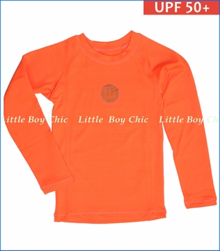 Wes & Willy, LS Sun Safe UPF 50+ Rash Guard in Tangerine