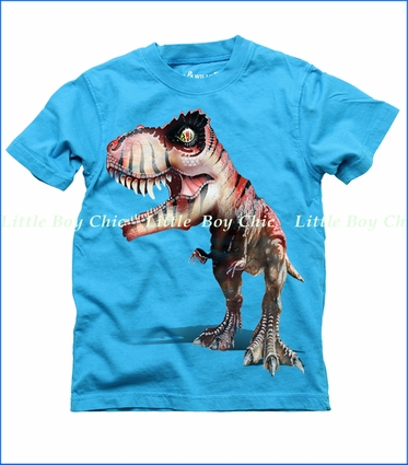 Wes & Willy, T-Rex Tee in VU Blue