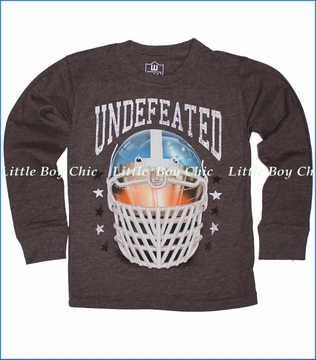 Wes & Willy, Undefeated Tee in Chocolate