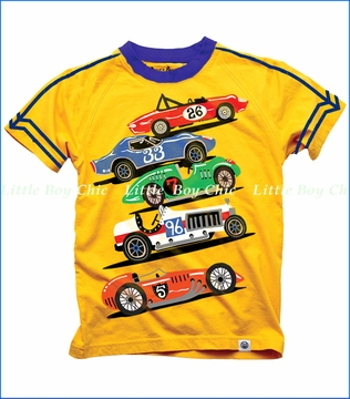 Wes & Willy, Winning Racers Slub Tee in Bold Gold