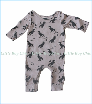 Wyldson, Dino Romper in Grey