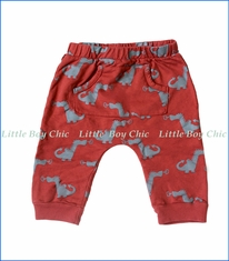 Wyldson, Dragon Harem Pants in Red