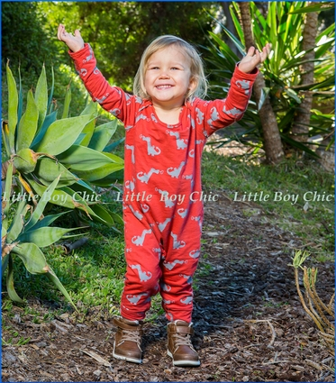 Wyldson, Dragon Romper in Red