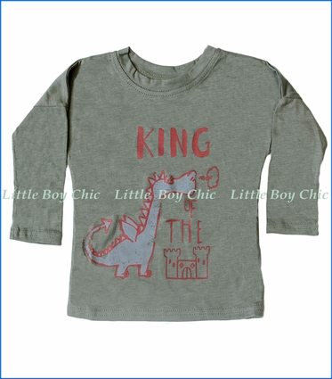 Wyldson, L/S King Dolman T-Shirt in Green