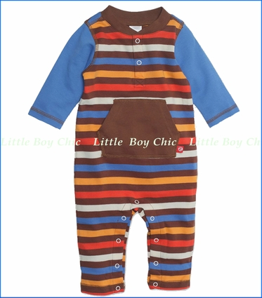 Zutano, 5-Color Stripe Romper (c)