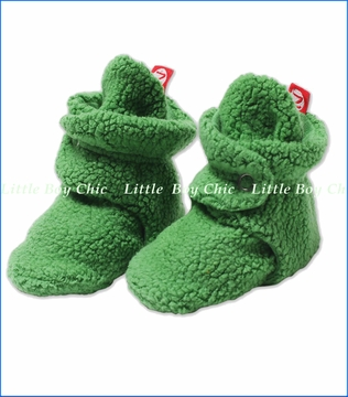Zutano, Apple Cozie Fleece Booties