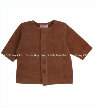 Zutano, Chocolate Cotton Blend Fleece Jacket (c)