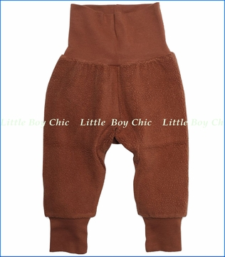 Zutano, Chocolate Cozie Fleece Cuff Pants