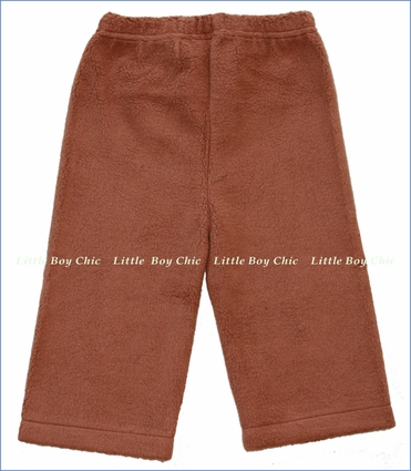 Zutano, Chocolate Cozie Fleece Pant (c)