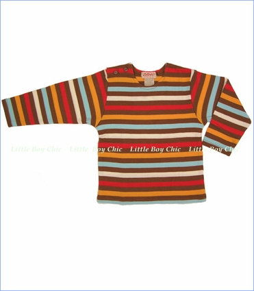 Zutano, Chocolate Stripe Long Sleeve Tee (c)