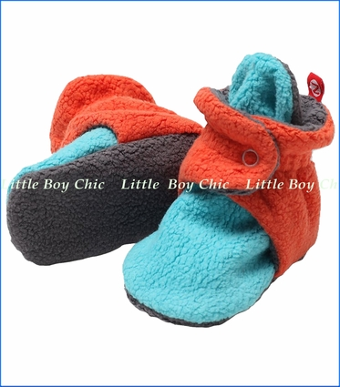 Zutano, Color Block Cozie Fleece Booties