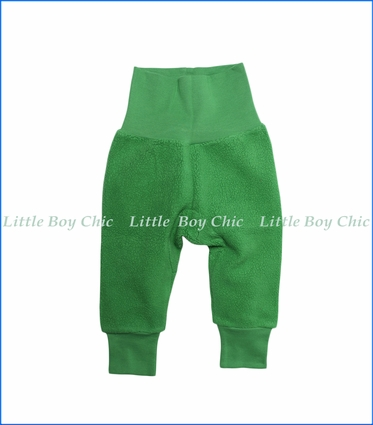 Zutano, Cotton Blend Fleece Cuff Pant in Apple Green