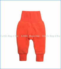 Zutano, Cotton Blend Fleece Cuff Pant in Mandarine Orange