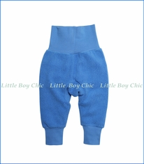 Zutano, Cotton Blend Fleece Cuff Pant in Periwinkle Blue