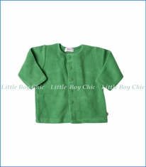 Zutano, Cotton Blend Fleece Jacket in Apple Green