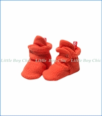 Zutano, Cozie Fleece Bootie in Mandarine Orange