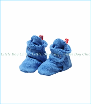 Zutano, Cozie Fleece Bootie in Periwinkle Blue