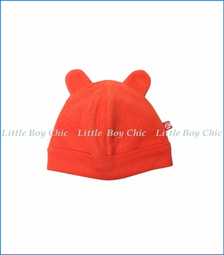 Zutano, Cozie Fleece Hat in Mandarine Orange