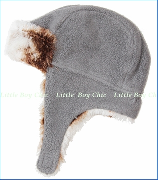 Zutano, Grey Cozie Shaggy Hat (c)